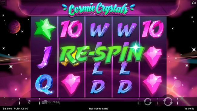 A re-spin is triggered for every non-winning spin of the reels. The re-spins will continue until the first winning combination appears.