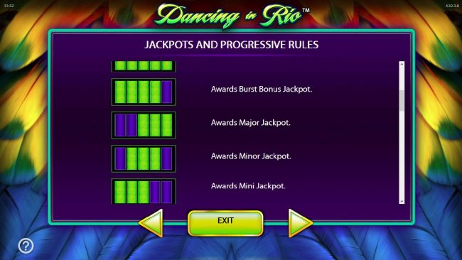 Jackpot and Progressive Rules. - continued