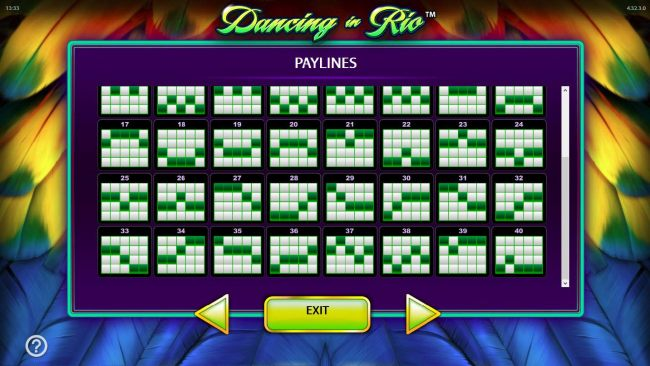 Payline Diagrams 17 - 40