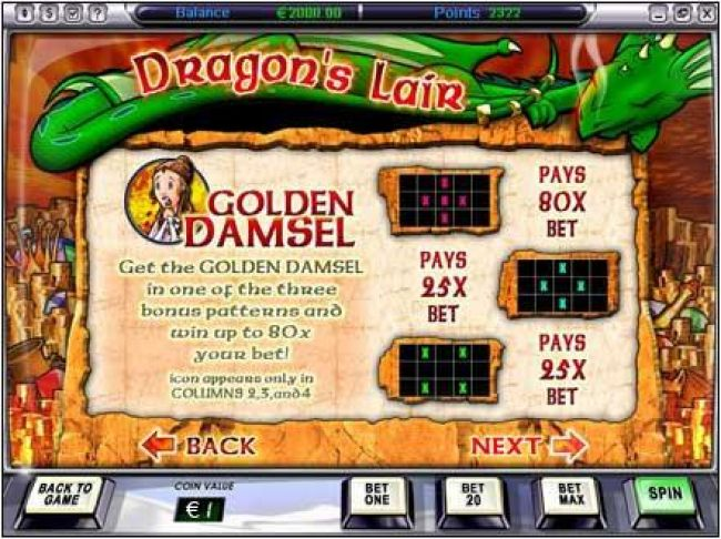 golden damsel payouts