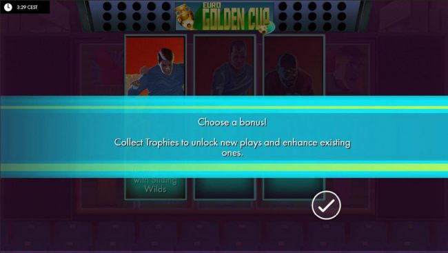 Choose a Bonus! Collect trophies to unlock new plays and enhance existing ones.