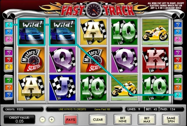 here is an example of a typical 160 coin jackpot