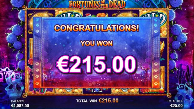 Total Free Spins Payout 215 credits