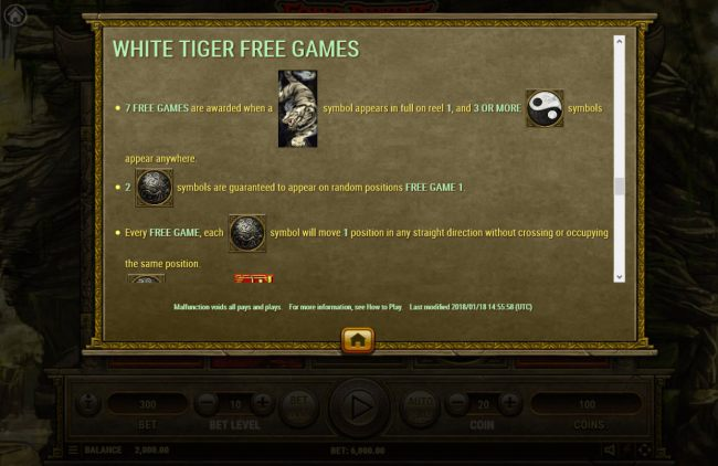 White Tiger Free Spins
