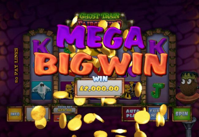 A 2,000.00 Mega Win awarded player for bonus game play.