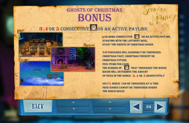 Bonus feature is triggered when 3, 4 or 5 consecutive clock bonus symbols appear on an active payline.
