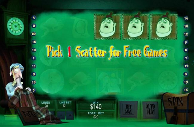 Pick 1 scatter for free games