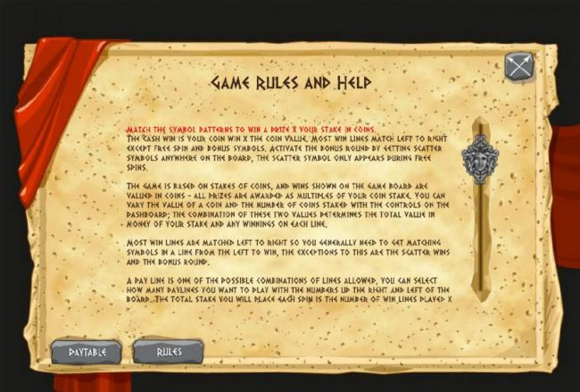 Game Rules and Help