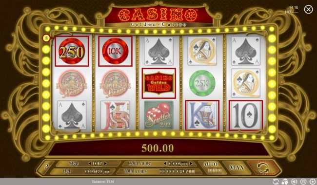 A winning Three of a Kind leads toa 500 payout