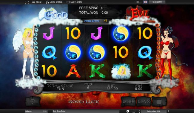 Landing 3 or more scatters during the free spins feature will re-trigger the feature