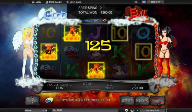 Total Free Spins oayout 1360