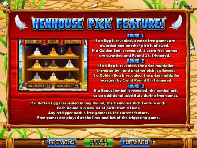 Henhouse Pick Feature Rules