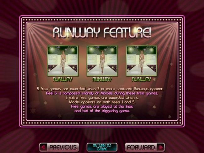 Runway feature game rules