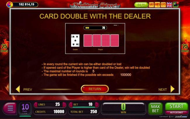 Card Double with the Dealer Rules
