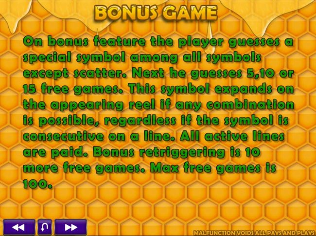 Bonus Game Rules
