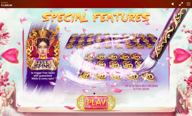 Free Spins - 3x trigger Free Spins with guaranteed wilds in every spin.
