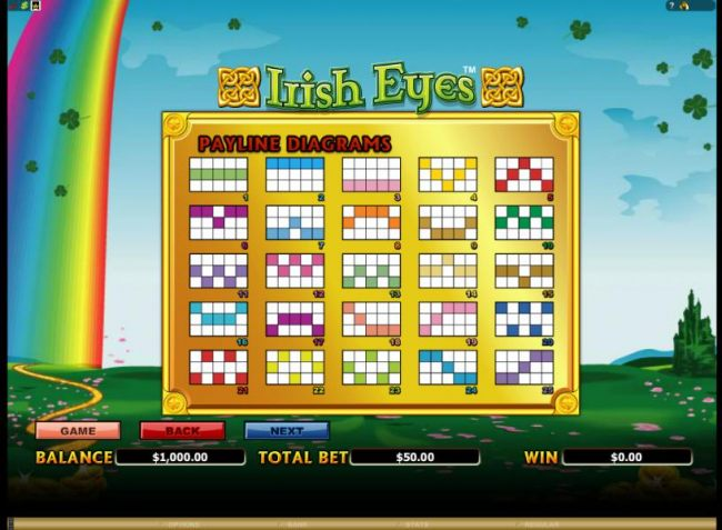 slot game has 25 payline configurations