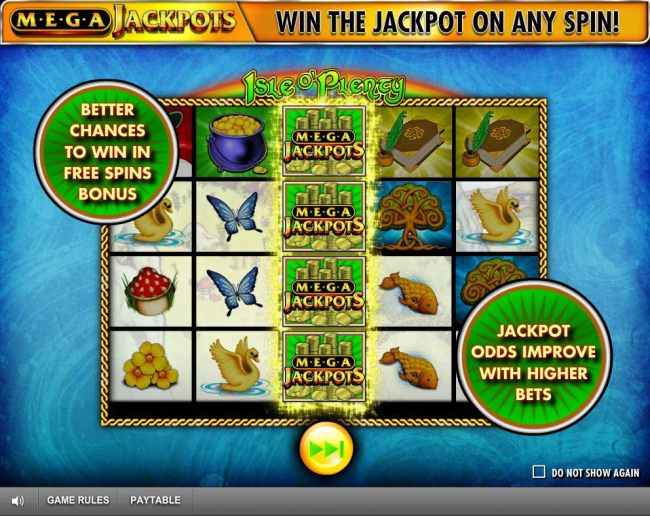 better chances to win in Free Spins Bonus. Jackpot adds improved with higher bets.