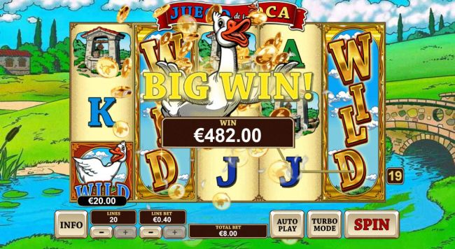 A 482 coin big win