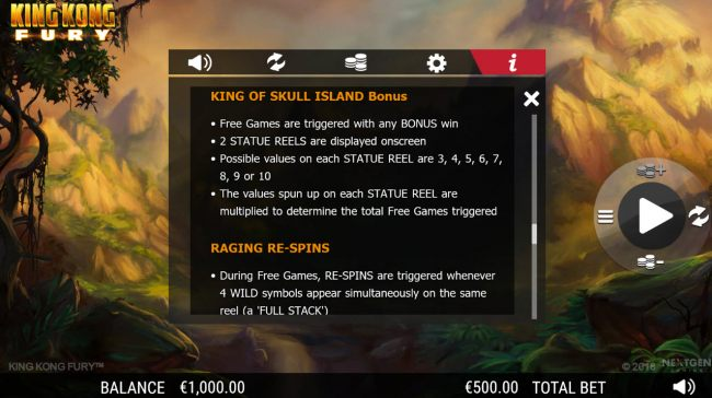 King of Skull Island Bonus