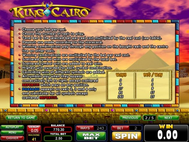slot game rules