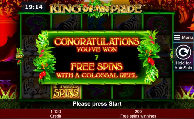 & free spins with a colossal reel