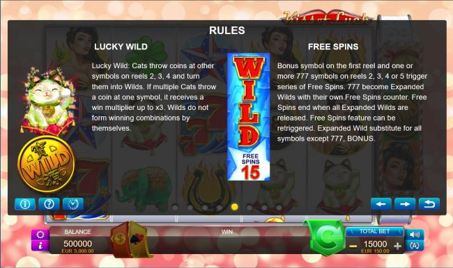 Lucky Wild and Free Spins Rules