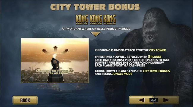 city tower bong with 3 or more kong symbols anywhere on reels in big city mode