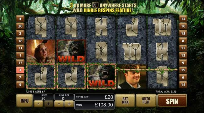wild symbols combine for 139 coin jackpot payout