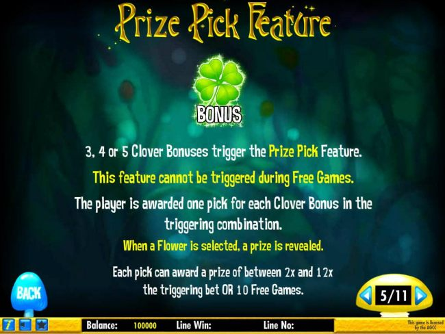 Prize Pick Feature Rules