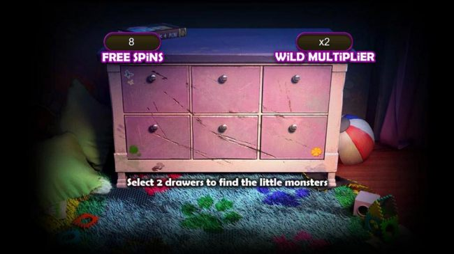 Select 2 drawers to find little monsters