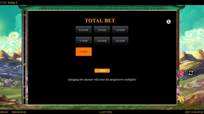 Available Bet Options