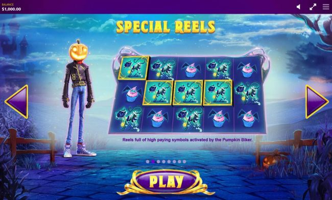 Special Reels - Reels full of high paying symbols activated by the Pumpkin Biker
