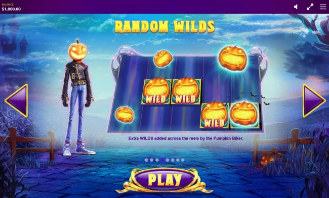 Random Wilds - Extra wilds added across the reels by the Pumpkin Rider.