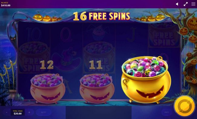 Selection awards player with 16 free spins.