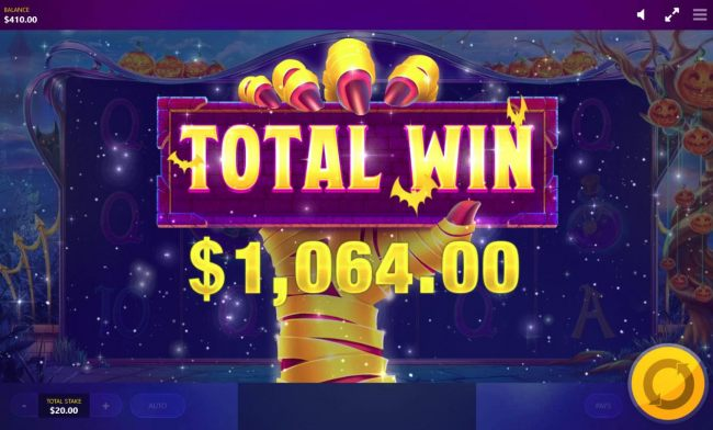 Free Spins pays out atotal of 1,064.00