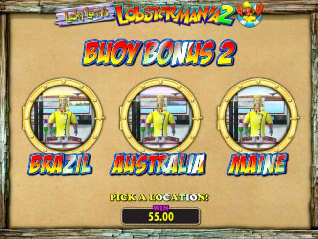 Bouy Bonus 2 - Select Brazil, Australia or Maine