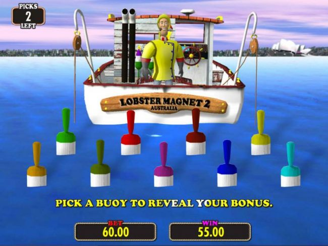 Pick a bouy to rveal your bonus award.
