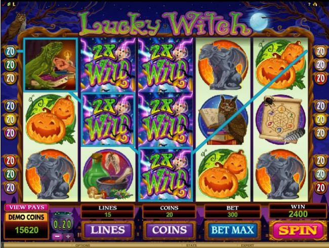 2x wild symbols lead to yet another 2400 coin jackpot payout