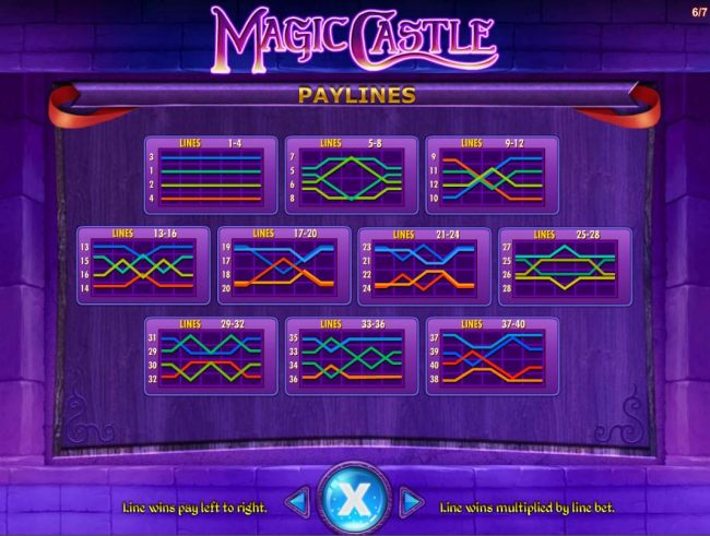 Payline Diagrams 1-40