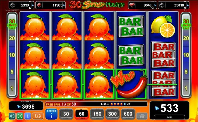 Multiple winning paylines triggers a big win during the free spins bonus feature!
