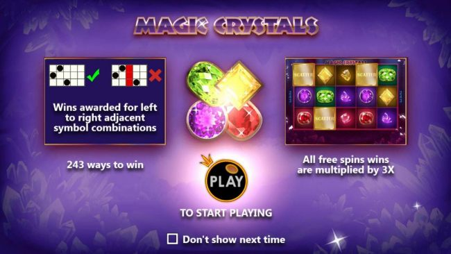 game features 243 ways to win and all free spins are multiplied by 3x.