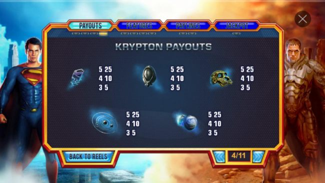 Krypton Low Value Symbol Payouts