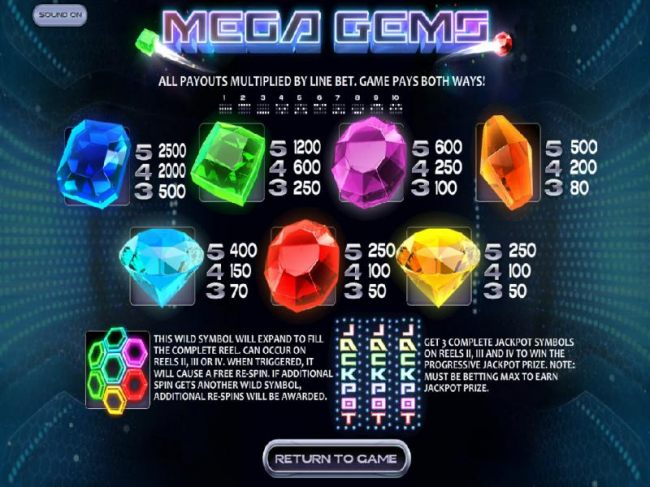 Slot game symbols paytable and payline diagrams