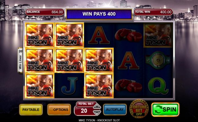 Multiple winning paylines triggers a big win!