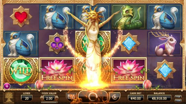 Nudge Reels feature is triggered for the next free spin