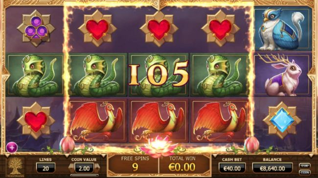 Playing the Mega Reel feature during the free spins triggers a big win