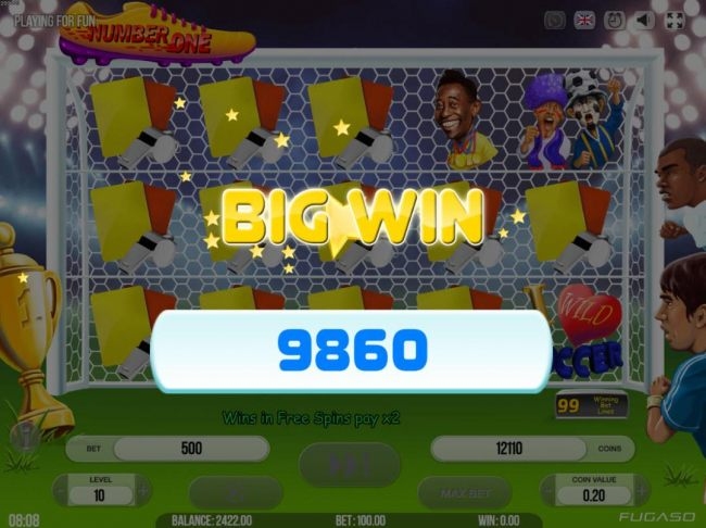 Multi Win feature pays out a total of 9860 coins.