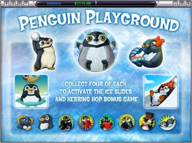 collect four of each to activate the ice slides and herring hop bonus game