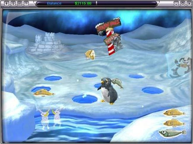 bonus feature - collect fish to earn prizes
